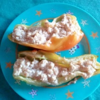 Greek Seasoned Stuffed Cubanelle Peppers