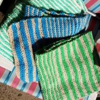 Simple Stripey Scarves-Beginner Friendly