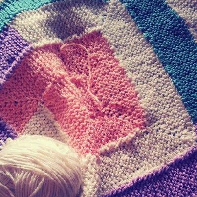 Antigoth Blanket Progress/Scrap Knitting @Horrificknits