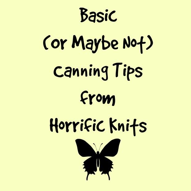Basic Canning Tips