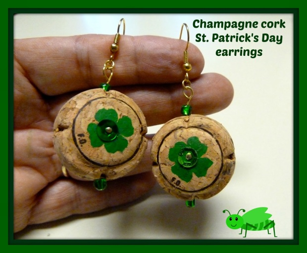 Champagne cork earrings