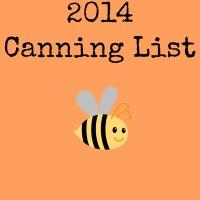 2014 Canning List