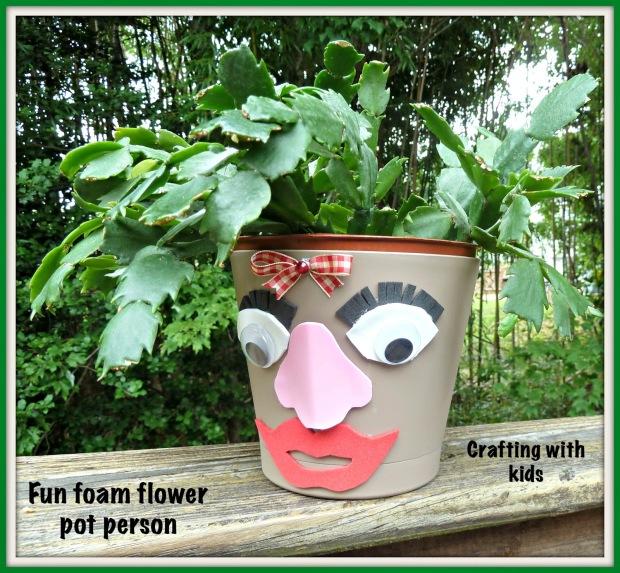 flowerpot person