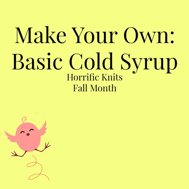 make your own cold syrup
