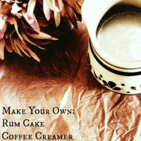 Make Your Own: Rum Cake Coffee Creamer