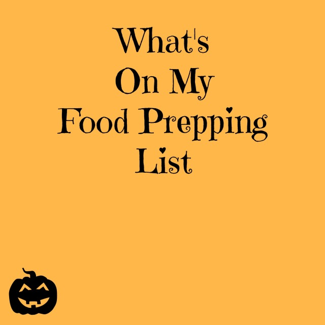 what's on my food prepping list