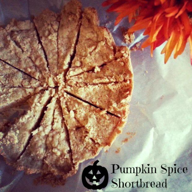 pumpkin spice shortbread